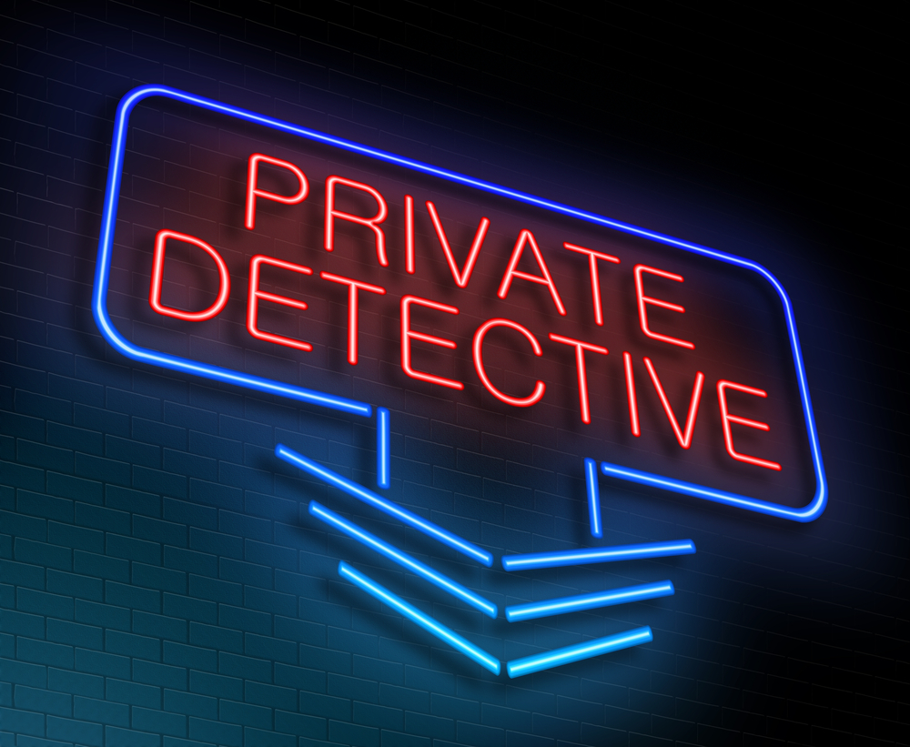 Private Detective Motel Style Sign. The term Private Detective is not allowed in Ontario